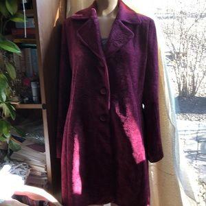 Preston & York Maroon Coat Size 14 gorgeous